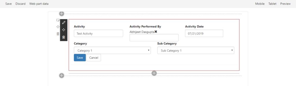 Custom Sharepoint Form using SPFx (No Javascript Framework
